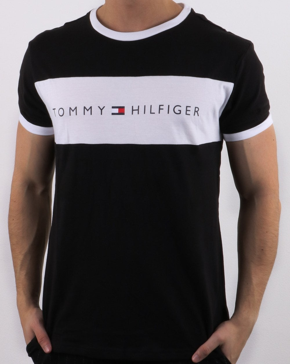 b8dcff2b Tommy Hilfiger Jeans Tommy Hilfiger Logo Flag T-shirt Black
