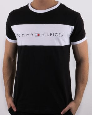 Tommy Hilfiger Jeans Tommy Hilfiger Logo Flag T-shirt Black 00b6fd1e4d7