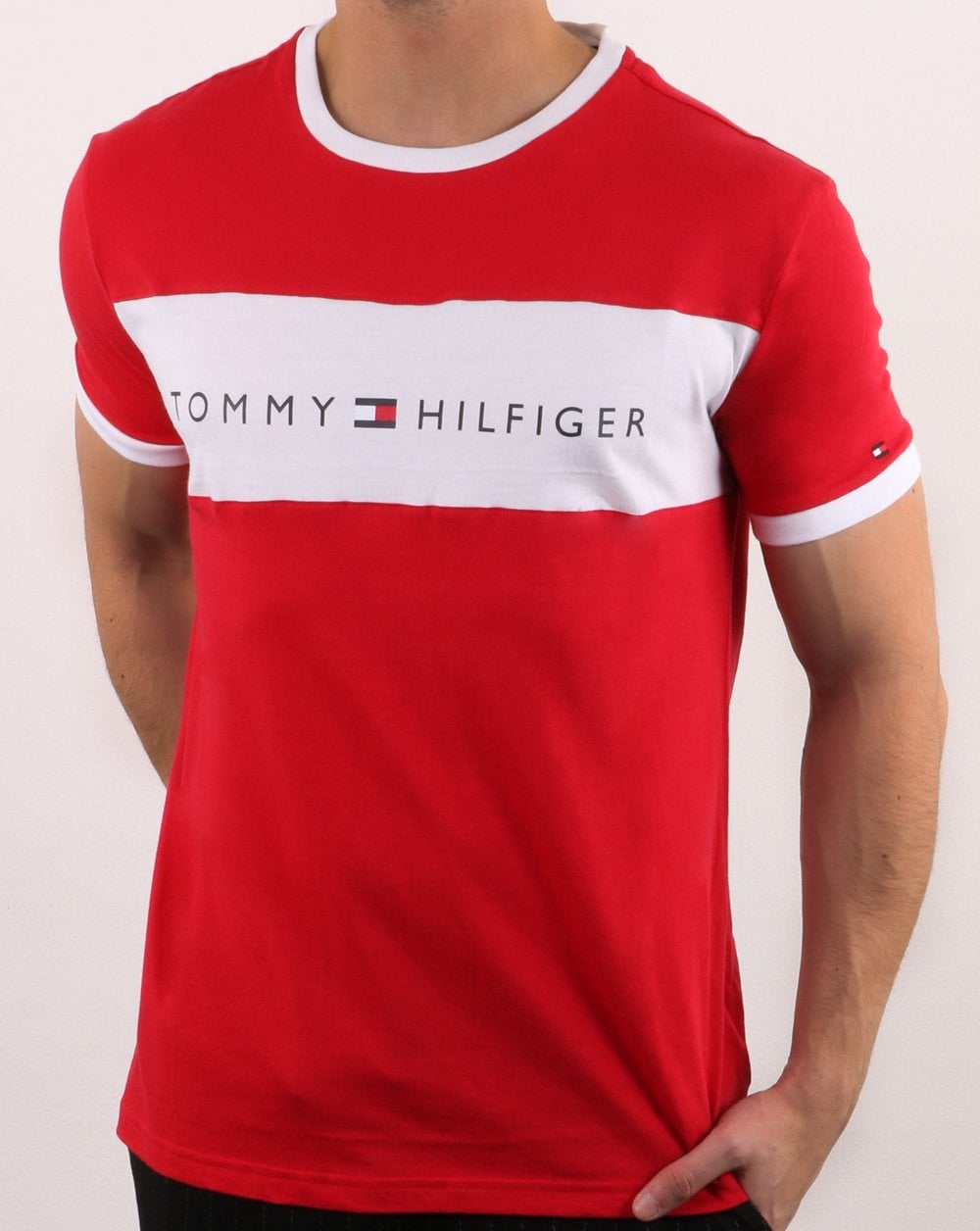 11d7d7dc Tommy Hilfiger Flag T Shirt in Red | 80s Casual Classics