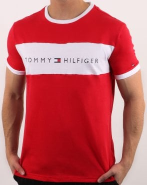Tommy Hilfiger Logo Flag T-shirt Tango Red