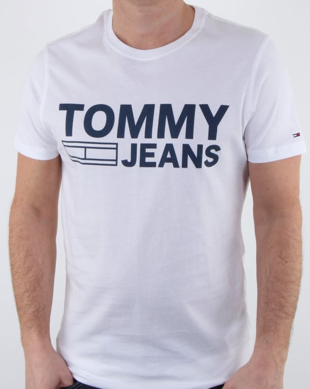 Tommy Hilfiger Logo T Shirt Classic White