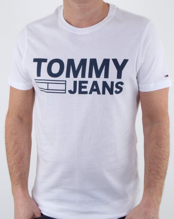 Tommy Hilfiger Logo T Shirt Classic White