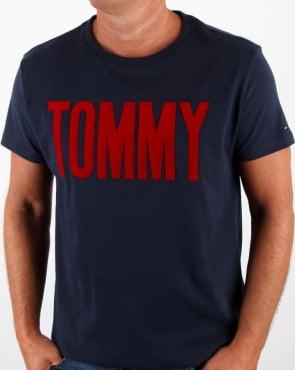 Tommy Hilfiger Jeans Tommy Hilfiger Logo T Shirt Navy