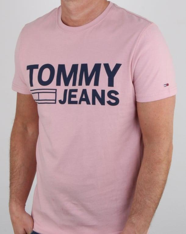 Tommy Hilfiger Logo T Shirt Pink