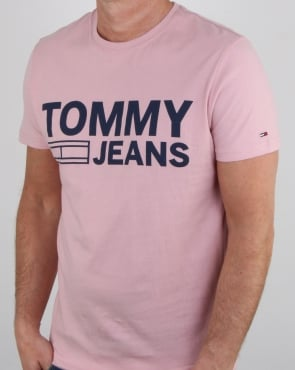 Tommy Jeans Tommy Hilfiger Logo T Shirt Pink