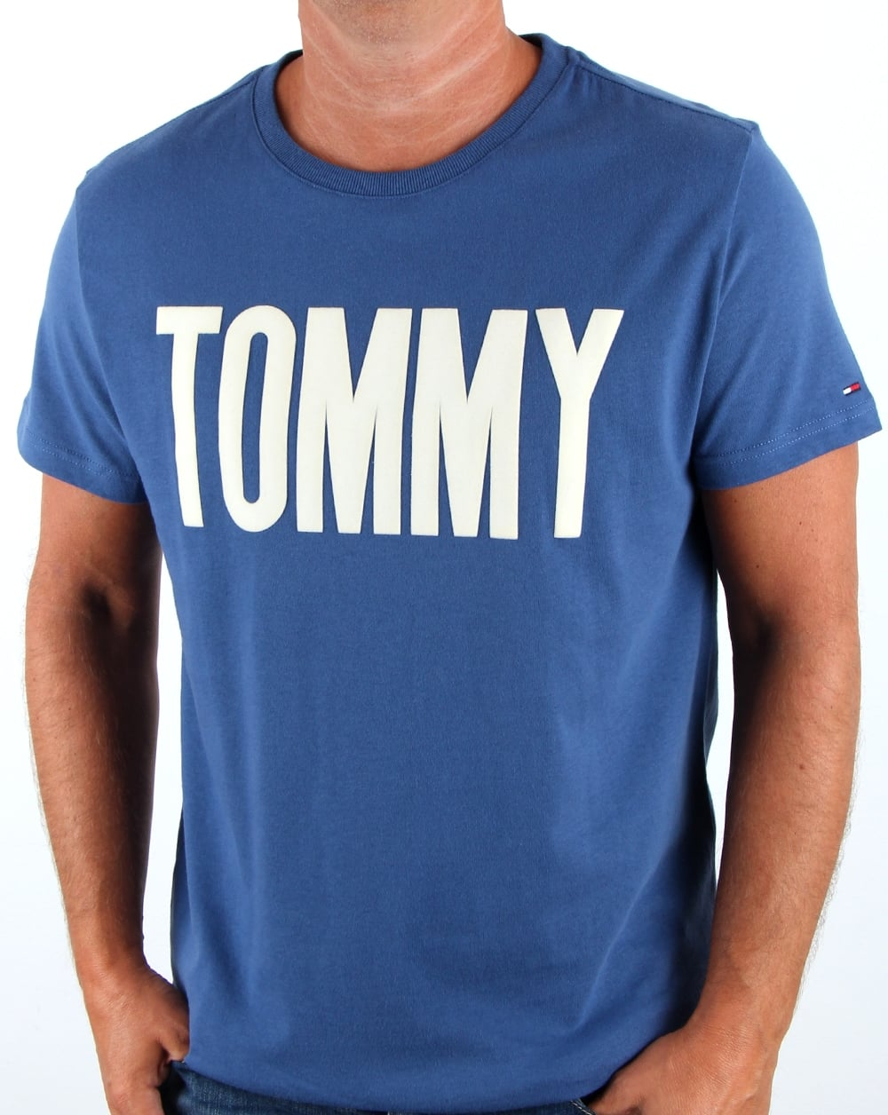 tommy hilfiger logo t shirt true navy men 39 s tee cotton. Black Bedroom Furniture Sets. Home Design Ideas