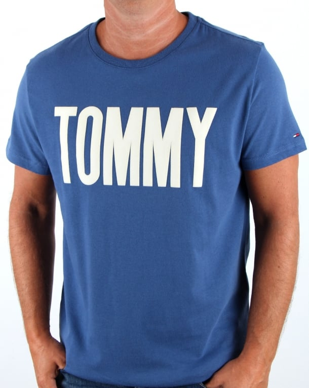 Tommy Hilfiger Logo T Shirt True Navy