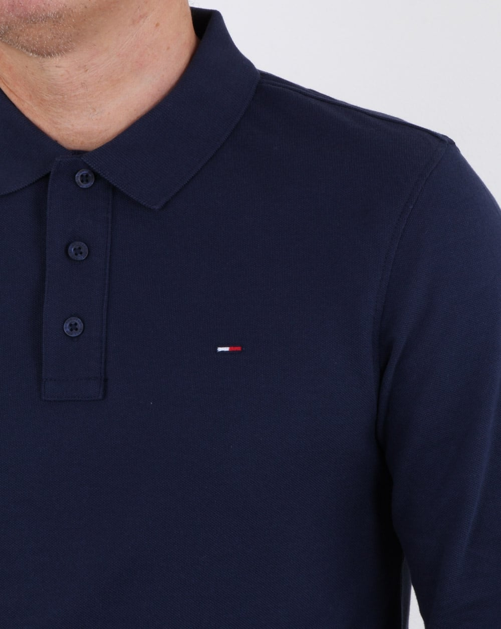 fe35e68c Tommy Hilfiger Long Sleeve Polo Shirt Navy, Mens, Cotton, Long Sleeve