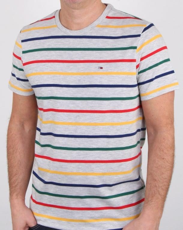 Tommy Hilfiger Multi Stripe T Shirt White