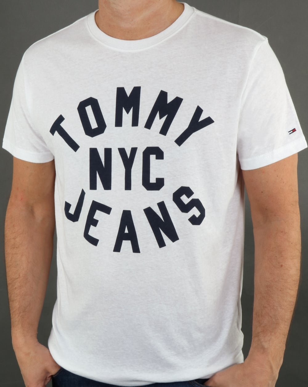 9919eb0f09b244 Tommy Hilfiger Jeans Tommy Hilfiger Nyc Logo T Shirt Classic White