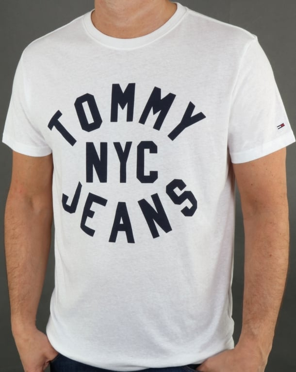 Tommy Hilfiger Nyc Logo T Shirt Classic White
