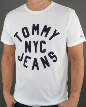 Tommy Jeans Tommy Hilfiger Nyc Logo T Shirt Classic White