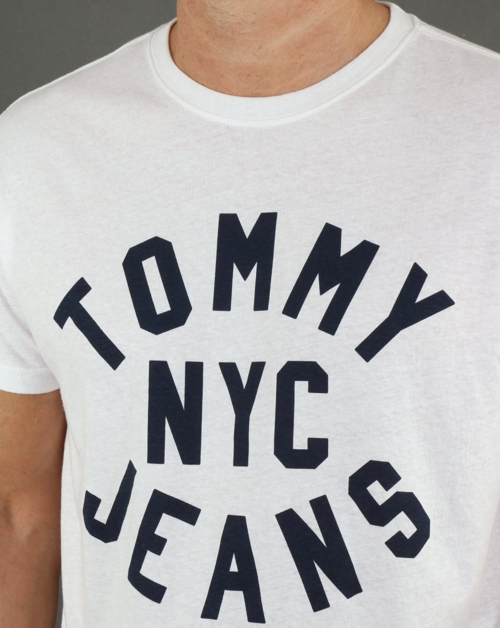 ca9d53ec Tommy Hilfiger Nyc Logo T Shirt Classic White, Mens, Tee, Cotton