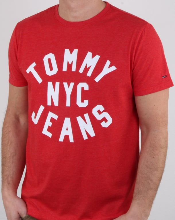 Tommy Hilfiger Nyc Logo T Shirt Red