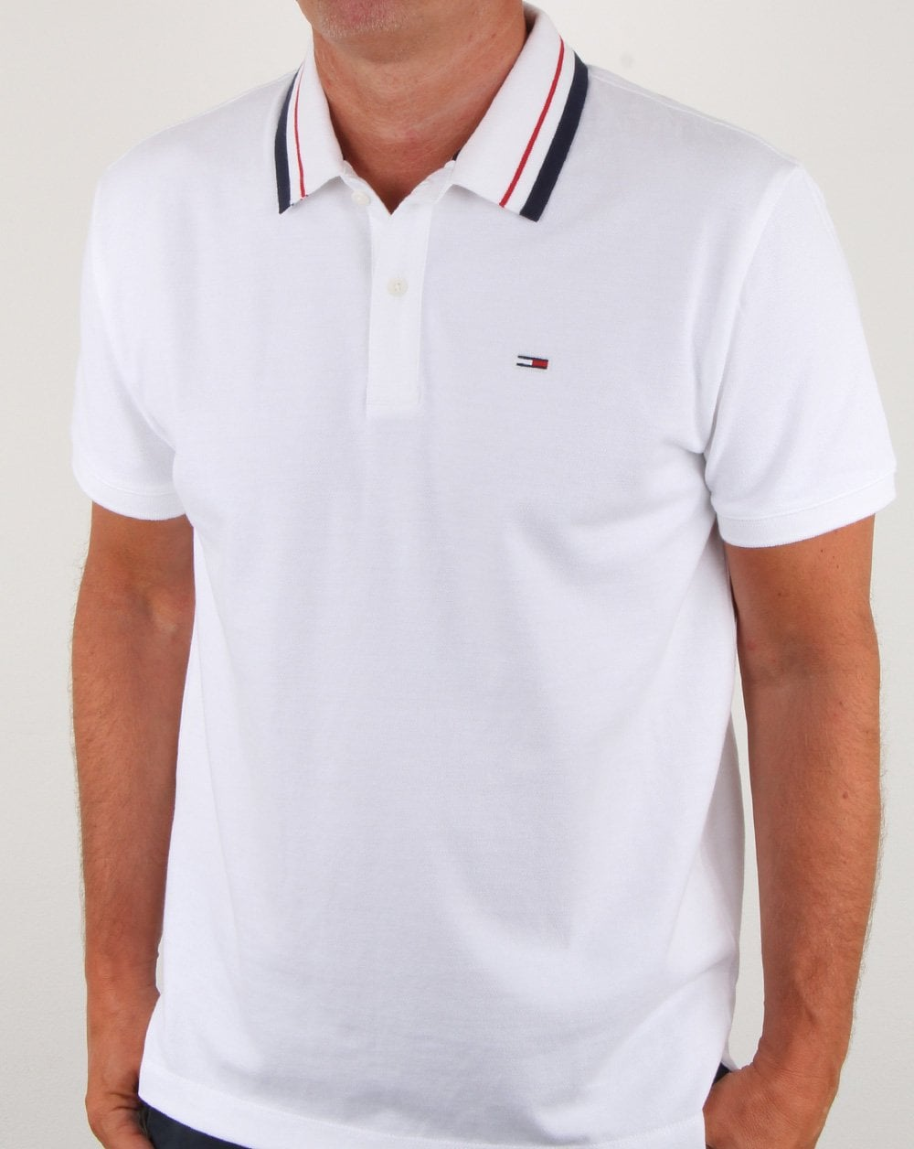 c48170b5 Tommy Hilfiger Pique Polo Classic White | 80s casual classics