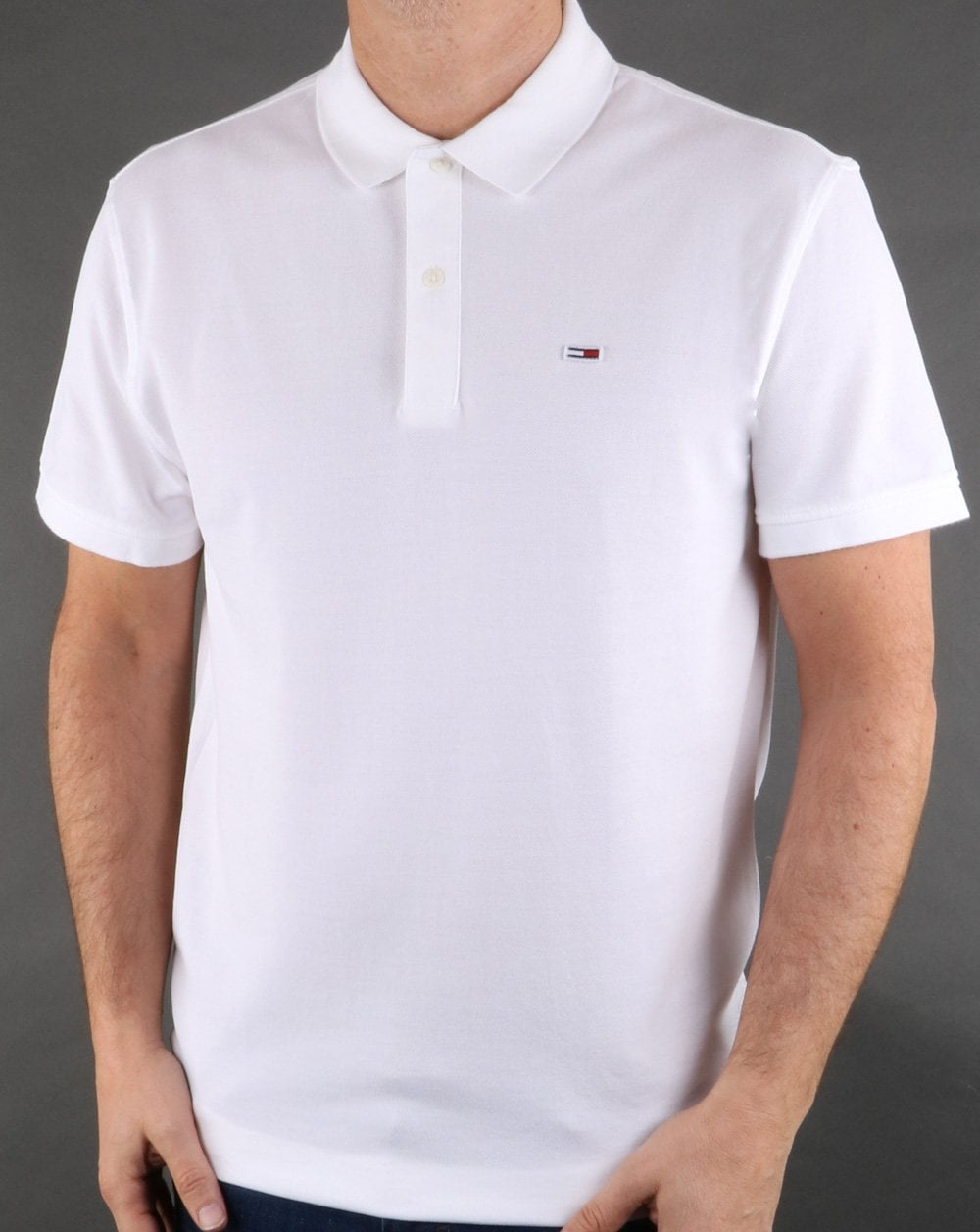 fb41a676 Tommy Hilfiger Polo Shirt Classic White | 80s casual classics