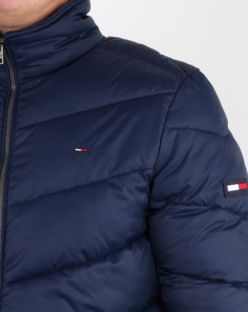 Tommy Hilfiger Quilted Jacket Navy, Mens, Padded, Fleece Lining d7d6698bd1