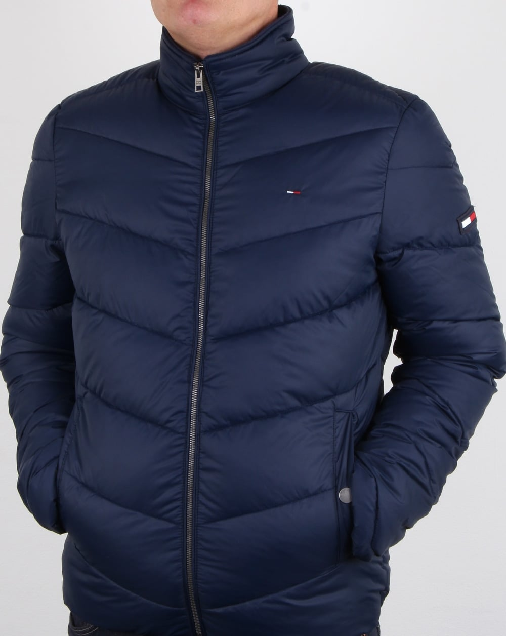 Tommy Hilfiger Quilted Jacket Navy Mens Padded Fleece