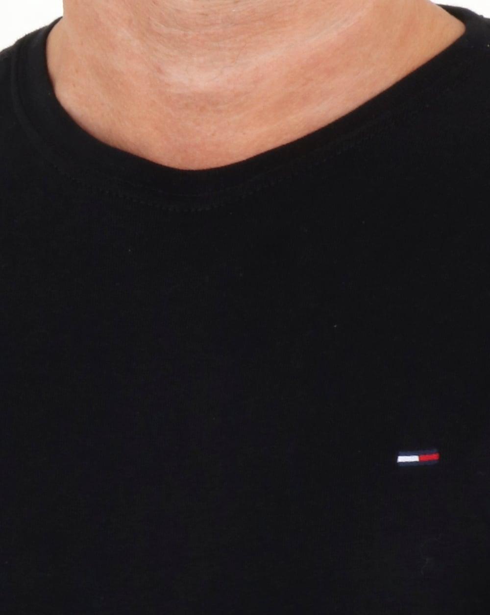 6922f68e Tommy Hilfiger Rib Long Sleeve T Shirt Black   80s casual classics