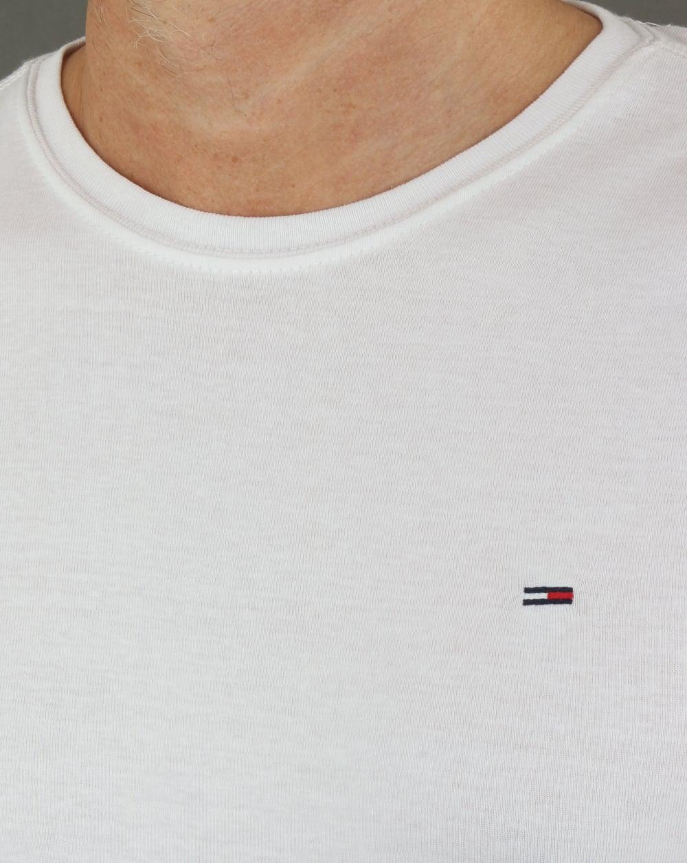 9ac351ef Tommy Hilfiger Rib Long Sleeve T Shirt White   80s casual classics