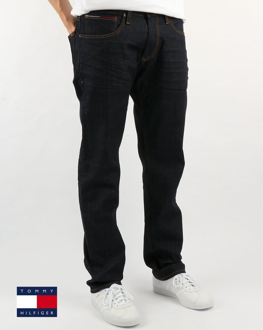 db7a50d5 Tommy Hilfiger Jeans Tommy Hilfiger Ryan Straight Fit Jeans Rinse Comfort