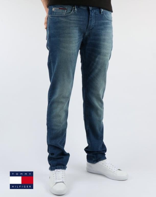 besserer Preis Genieße den kostenlosen Versand begrenzter Verkauf Tommy Hilfiger Scanton Slim Fit Jeans Berry Mid Blue Comfort