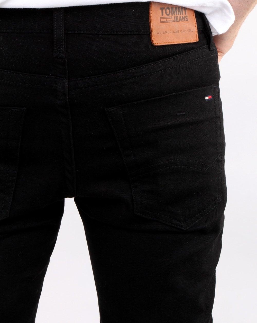d70cf054 Tommy Hilfiger Scanton Slim Fit Jeans Black | 80s casual classics