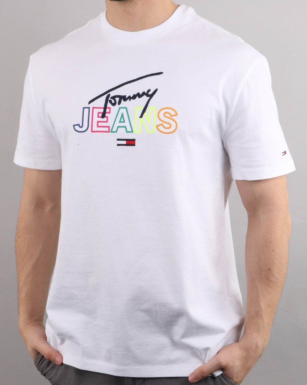 ab595968 Tommy Hilfiger Jeans Tommy Hilfiger Script Tee Classic White