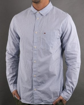 b1eaea17 Tommy Hilfiger Jeans Tommy Hilfiger Seersucker Stripe Shirt Blue/white