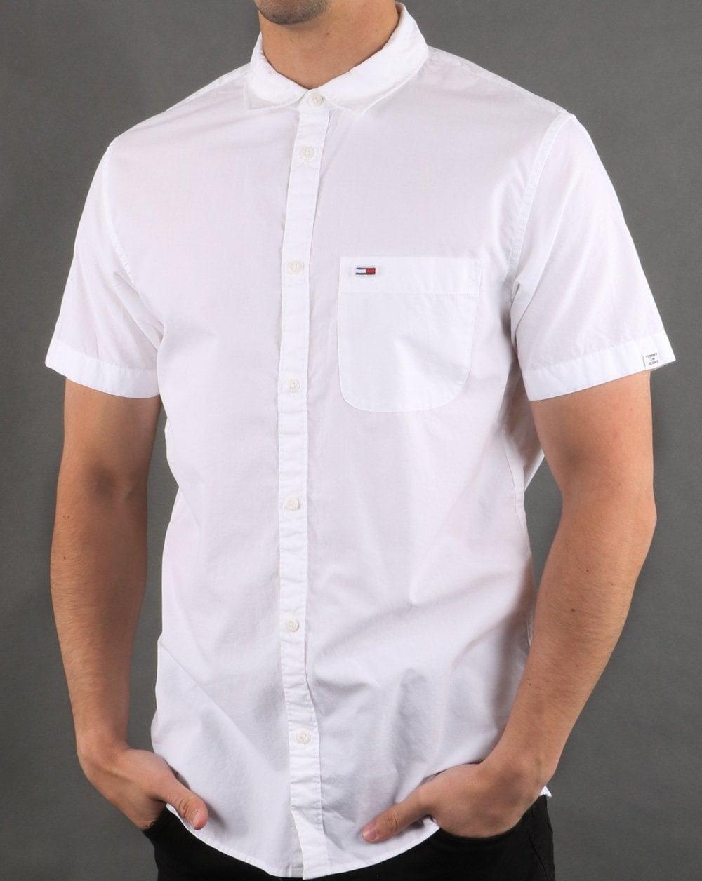 af7724ada Tommy Hilfiger Jeans Tommy Hilfiger Short Sleeve Poplin Shirt Classic White