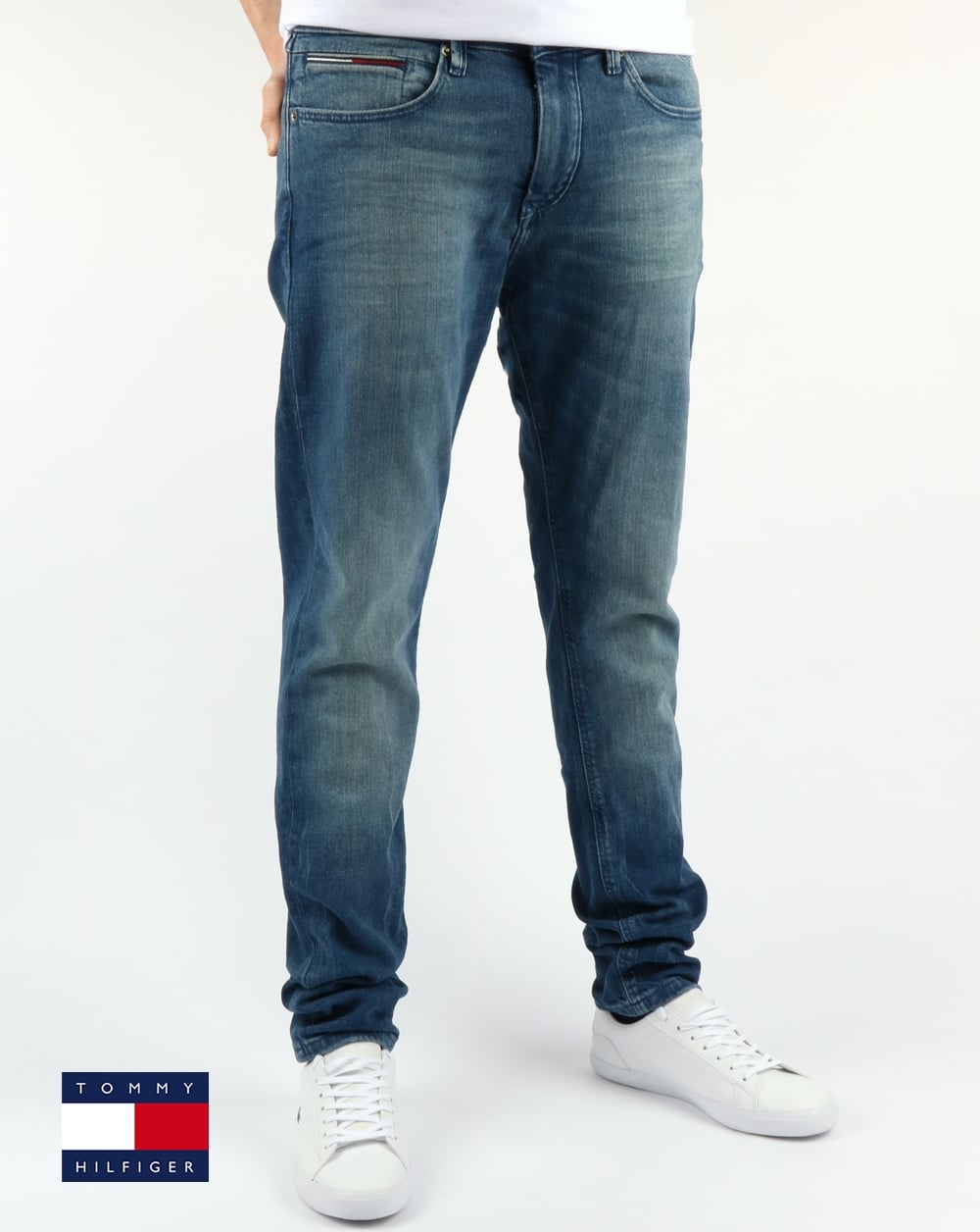 8fae72a10bb Tommy Hilfiger Jeans Tommy Hilfiger Steve Slim Tapered Fit Jeans Berry Mid  Blue Comfort