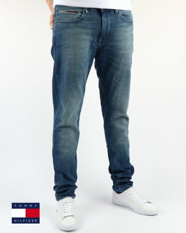 Tommy Hilfiger Steve Slim Tapered Fit Jeans Berry Mid Blue Comfort