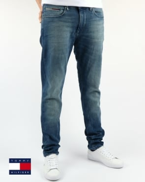 Tommy Jeans Tommy Hilfiger Steve Slim Tapered Fit Jeans Berry Mid Blue Comfort