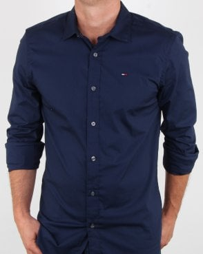 Tommy Hilfiger Jeans Tommy Hilfiger Stretch fit Navy Shirt