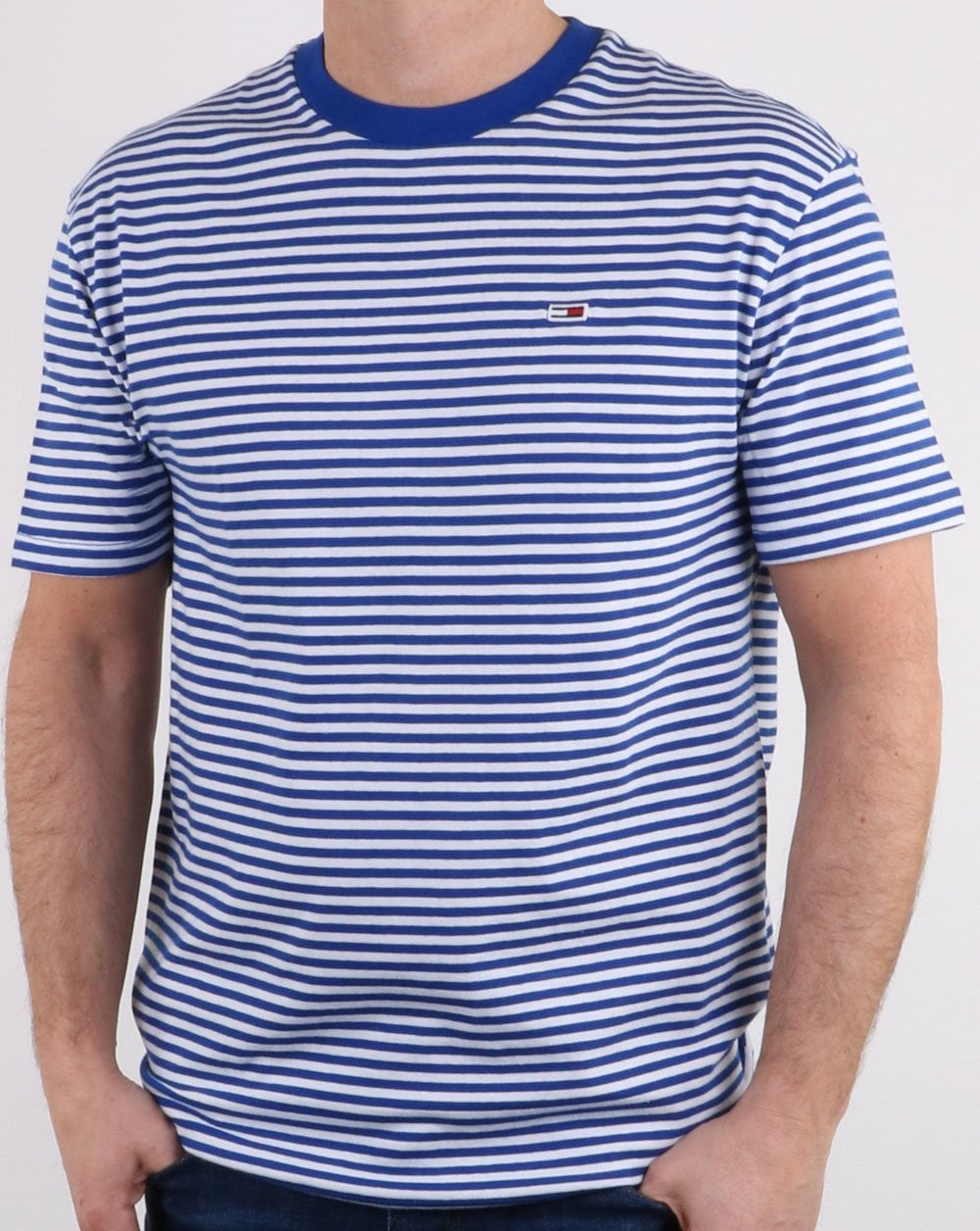 4ca5bcc3 Tommy Hilfiger Stripe Tee Limoges/white, Striped Tee, Tommy Jeans