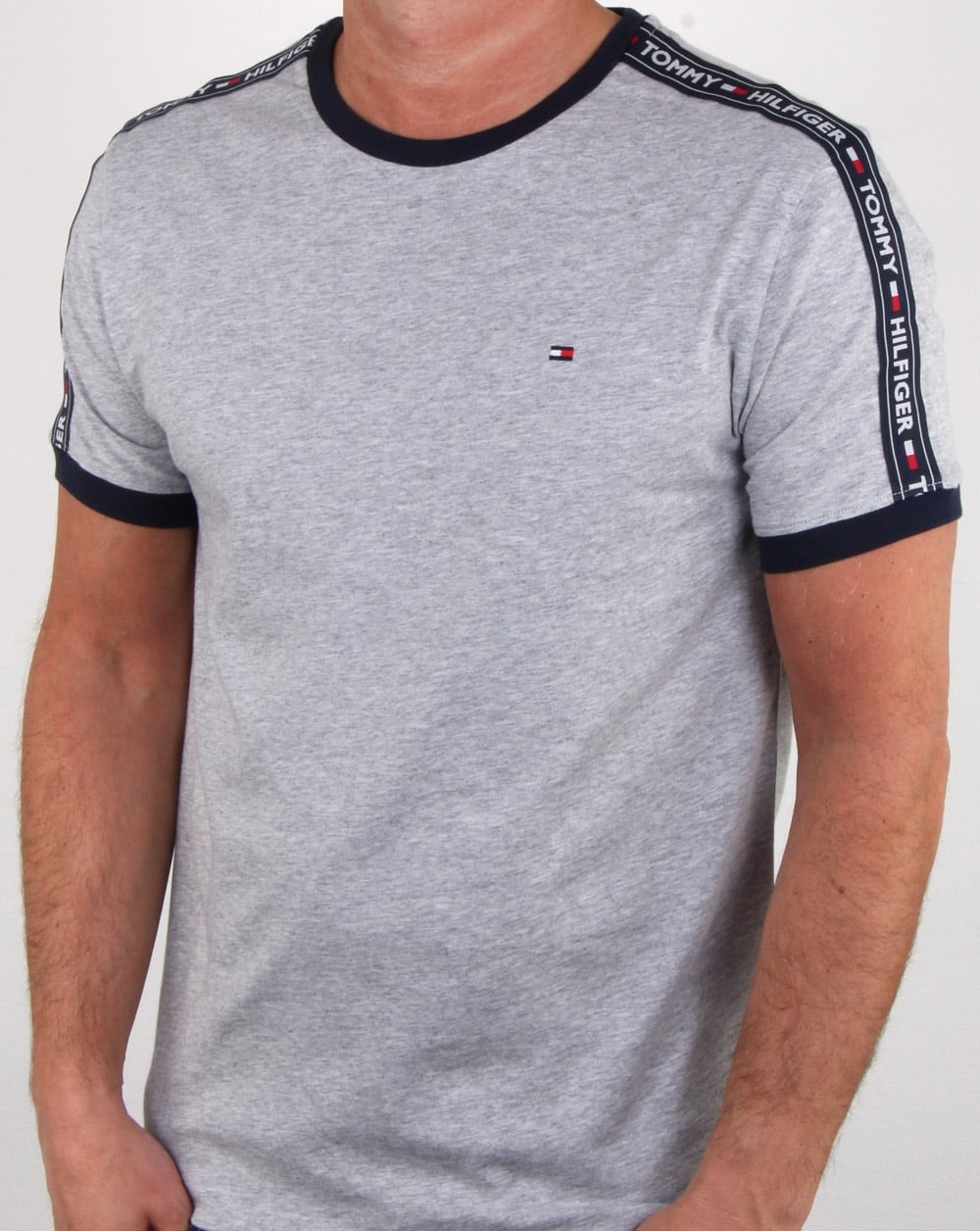 premium selection e70b2 9cb20 Tommy Hilfiger Taping T Shirt Grey