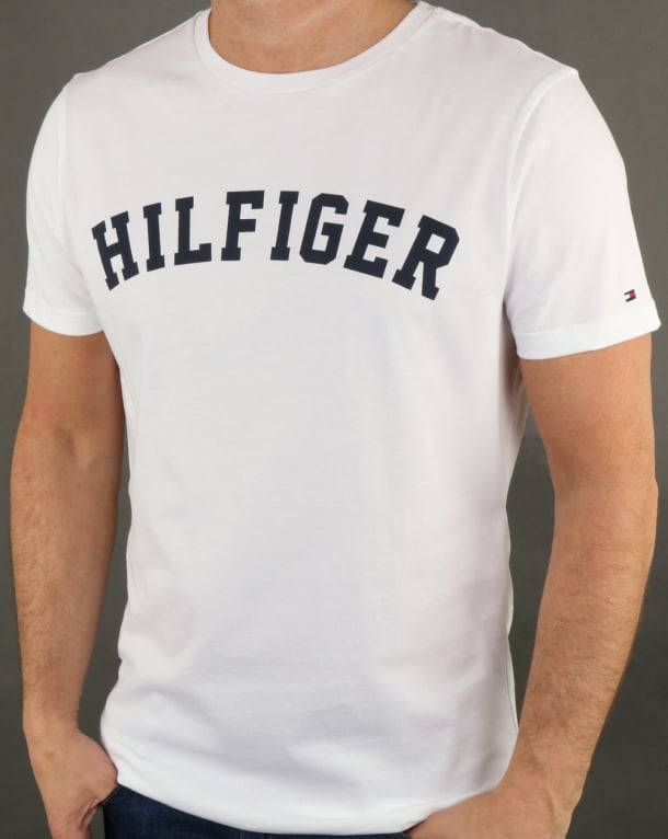 Tommy Hilfiger Text Logo T Shirt White
