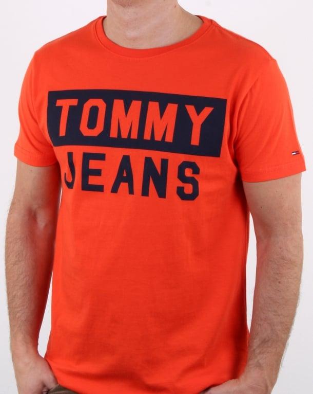 Tommy Hilfiger Tommy Jeans T Shirt Orange