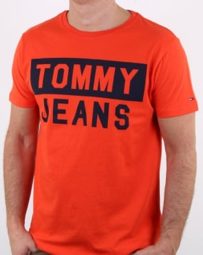 Tommy Hilfiger Tommy Jeans T Shirt Orange
