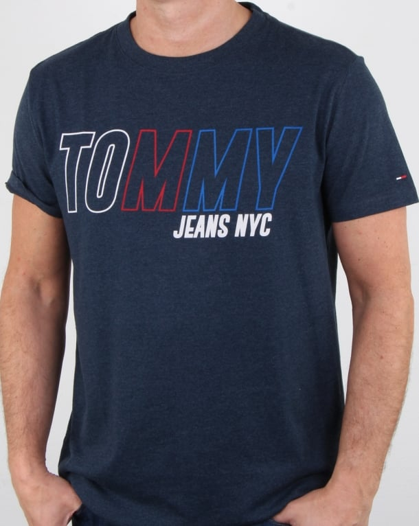 Tommy Hilfiger Vintage Graphic T Shirt Navy