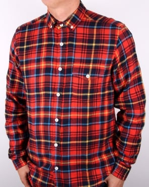 Tuktuk Larry Flannel Check Shirt Red