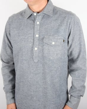 Tuktuk Pop-over Chambray Shirt Navy