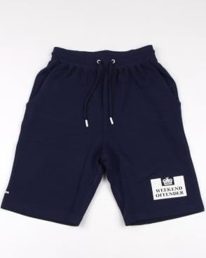 Weekend Offender Action Shorts French Navy