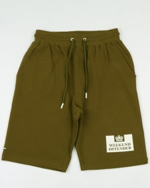 Weekend Offender Action Shorts Olive