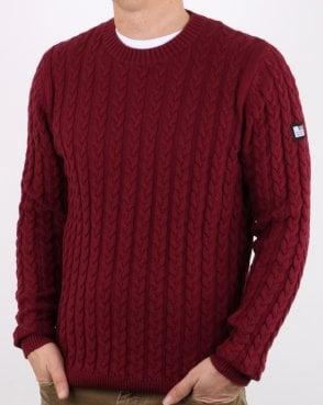 Weekend Offender Cable Jumper Claret
