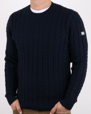 Weekend Offender Cable Jumper Navy