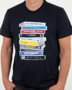 Weekend Offender Cassettes T Shirt Navy