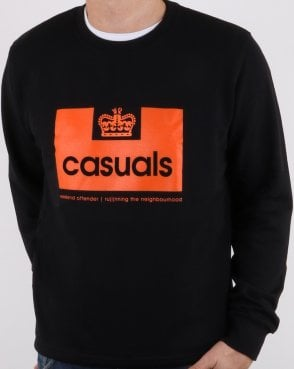 Weekend Offender Casuals Sweatshirt Black/orange