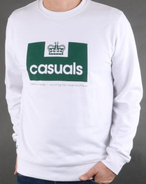 Weekend Offender Casuals Sweatshirt White/green