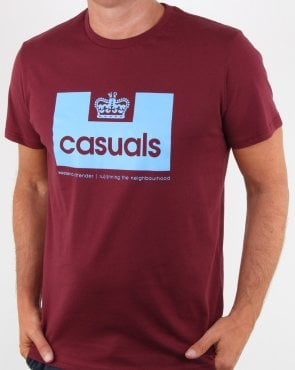 Weekend Offender Casuals T Shirt Claret